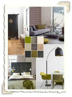 Grijs en groen on Pinterest  Interieur, Met and Villas