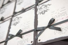 pretty grey + pink invites