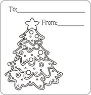 Christmas Gift Tags Ruffled
