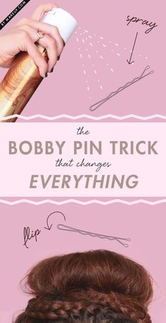 Best Beauty Hacks Ever Created - The Bobby Pin Trick That Changes Everything - Tips And Tricks For Skin Care, Make Up, Style, And Products Every Girl Should Try At Least Once In Life. Easy, Cute, Step By Step Tutorials - http://thegoddess.com/best-beauty-hacks-ever