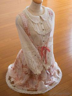 LIZ LISA Chiffon Bouse & Organza Layered JSK BUNDLE Ribbon Hime Gyaru Lolita 109 #LIZLISA