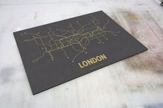 Minimalist public transport map prints from Lineposters.