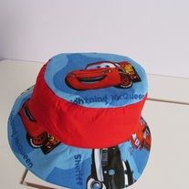 Lightning McQueen Bucket Hat with Red Crown size XL - Toddler  edc2b40ab7e