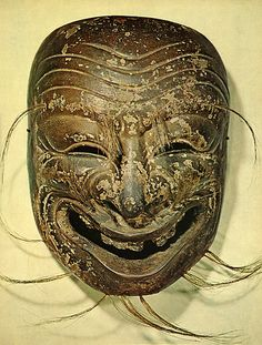"A mask of Japanese Bugaku. ""Ninomai, Emi-men"". 1173. Heian era."