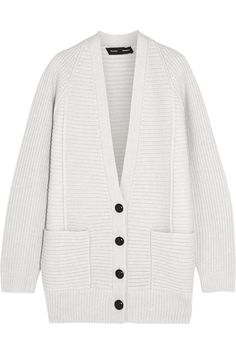 Proenza Schouler | Ribbed wool and cashmere-blend cardigan  | NET-A-PORTER.COM