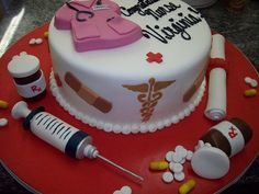 Lyn look at this: nurse cake  For when some one gets finished!