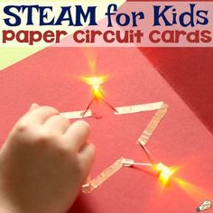 Making paper circuit cards is one of the most integrative STEM activities for. Stem Projects, Circuit Projects, Science Projects, Fair Projects, Science Activities, Science Experiments, Activities For Kids, Colour Activities, Science Fair