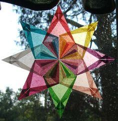Moey's Heart & Hearth: Simple Window Stars Tutorial  *