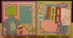 Monsters Inc. - Here are some great pre-done layouts. they are here for sale, but is also a great place to get ideas for layouts and uses for the cricut.