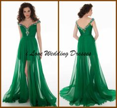 Wholesale Homecoming Dresses - Buy 2014 New Sexy Sheath V Neck Sleevless Hi Lo Homecoming Dresses Party Gowns Beading Short Front Long Back Dress Prom Pleat Chiffon Green YH-7, $108.9 | DHgate