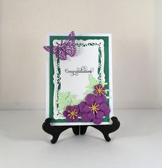 Card is 5 by 7 inches Envelope is included Card is blank for you to write your special message.