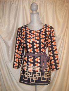 quad square 3/4 sleeve tunic by nalaclothing on Etsy, $32.00