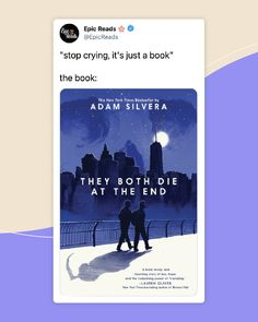 Adam Silvera reminds us that there's no life without death and no love without loss in this devastating yet uplifting story about two people whose lives change over the course of one unforgettable day. Book Nerd Problems, Lauren Oliver, Fandom Memes, One More Day, The End, Book Fandoms, Book Stuff, Book Recommendations, Bestselling Author