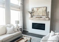 Wonderful Photos Electric Fireplace ideas Tips Installing a Fireplace + Our New Samsung Frame TV – The Blooming Nest Home Fireplace, Home, Installing A Fireplace, Modern Farmhouse Style, Diy Fireplace, Tv Above Fireplace, Fireplace Design, Living Room With Fireplace, Fireplace Gallery