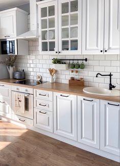 Kitchen Room Design, Ikea Kitchen, Modern Kitchen Design, Home Decor Kitchen, Kitchen Interior, Home Interior Design, Home Kitchens, Kitchen Remodel, Sweet Home
