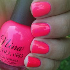 Nina Ultra Pro Nail Polish Punki Pink 14ml Gorgeous Neon Colour Have