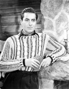 Tyrone Power the swashbuckling handsome leading man of many action historic epics. Old Movie Stars, Classic Movie Stars, Classic Movies, Hollywood Icons, Golden Age Of Hollywood, Classic Hollywood, Norma Shearer, Tyrone Power, Loretta Young