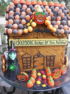 Zoulah's Halloween Gingerbread Home. #Halloween #Gingerbread #house