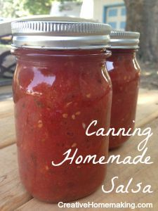 Easy recipe for canning a thick, medium salsa.