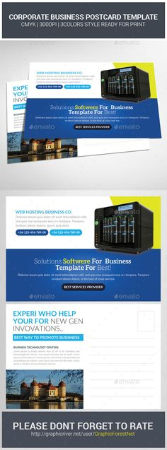 Corporate Business Postcard Template Business postcards - postcard template