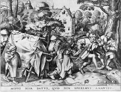 1570 Pieter Bruegel the Elder - The Dirty Bride, or The Wedding of Mopsus and Nisa. Note the crude tent.
