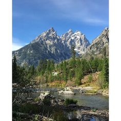A scenic fall drive in Grand Teton National Park, Wyoming.