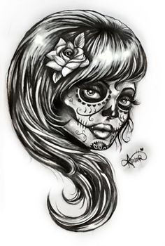 Day of the Dead Women Art | Day of the Dead woman by MoterPants