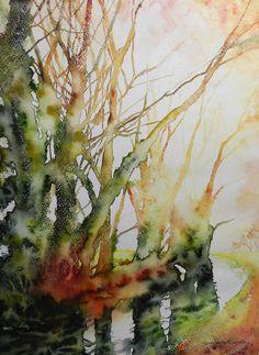 Cristina Dalla Valentina - Come una vecchia foto 48 x 36 cm acquerello su carta, originale, firmato, senza cornice watercolor on paper, original, signed, unframed € 145 #watercolor #painting #art
