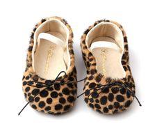 Cheetah baby flats