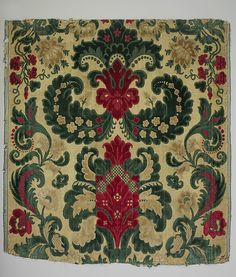 Piece Date: second half 17th century Culture: Italian (Genoa ?) Medium: Silk and metal-wrapped thread Accession Number: 09.50.1318