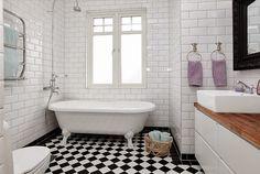 badrum schackrutigt golv - Sök på Google