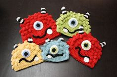 Pattern for cute crocheted monster hat
