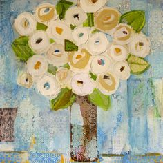 Kristy Kinard Roses on Blue