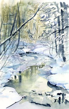 Kathleen Spellman   WATERCOLOR      I love the background, well the entire piece.