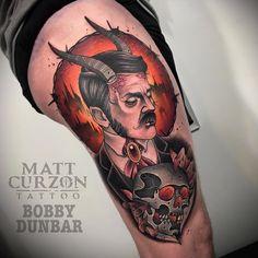 Dad Tattoos, Sleeve Tattoos, Tatoos, Tattoo Sketches, Tattoo Drawings, Neo Tattoo, Devil Tattoo, Fusion Ink, Tattoo Equipment