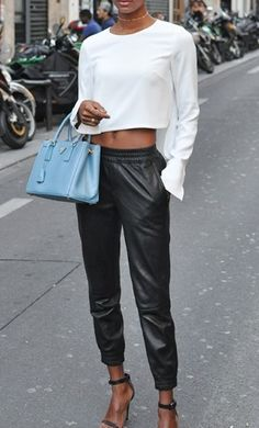 LEATHER DRAWSTRING PANTS ARE ON SALE WWW.SHOPPUBLIK.COM take extra 30% off all sale items!