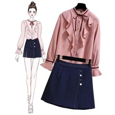 Chic Autumn Sluggish Chiffon Long Sleeved Shirt Suit 2019 Two Sets Top And Skirt Sets Girl Freestyle Elegant Two Piece Set 279. Yesterday's price: US $75.00 (66.08 EUR). Today's price (December 17, 2018): US $45.00 (40.20 EUR). Discount: 40%. #Women #Sets #two #sluggish