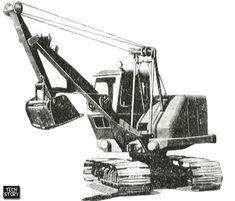 Экскаватор Э-157 с обратной лопатой. Фотография из справочной литературы