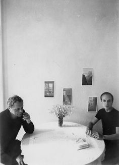 Oblique Strategies for Architects - Peter Schmidt with Brian Eno. What would it be like to sit at that table in that room?