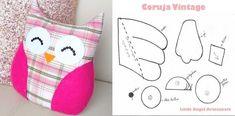 molde de cojin en forma de buhos Vintage, Shape, Craft, Crochet Doilies, Crochet Stitches, Making Cushion Covers, Pillows, Vintage Comics