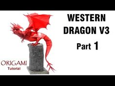 Origami Western Dragon Tutorial (Shuki Kato) Part 1 折り紙 西洋のドラゴン оригами учебник Западный Дракон Origami And Kirigami, Oragami, Diy Origami, Origami Tutorial, Origami Paper, Paper Folding Art, Origami Folding, Heart Template, Flower Template
