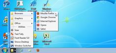How to Arrange Shortcuts into Groups on the Windows 7 Quick Launch Bar