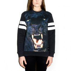 PANTHER POWER unisex sweater Made on 100% cotton #panther #power #black #white #crazy #comfortable #original #breakingrocks