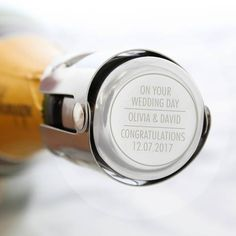Our Personalised Prosecco Stainless Steel Bottle Stopper ensures the airtight closure of champagne bottles and wine bottles that use corks. Works equally well on Prosecco, Champagne and sparking wine. It's perfect as a unique and thoughtful gift f. Wine Bottle Stoppers, Wine Bottles, Champagne Birthday, Thoughtful Gifts For Him, Champagne Bottles, Engraved Gifts, Stainless Steel Bottle, New Home Gifts, Engagement Gifts