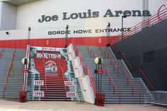 Joe Louis Arena in Detroit Michigan! LETS GO RED WINGS! I love this arena. I love Red Wings <3