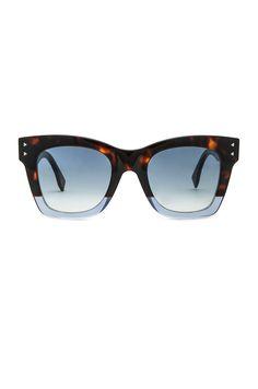 Imagem 1 de Óculos de Sol Fendi Square em Havana Blue   Dark Blue Gradient  Havana 099192418c