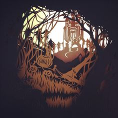 forest by Vivi 95, via Behance
