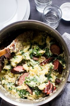 "Boerenkool Stamppot is a Dutch dish of mashed potatoes (""stomped pot"") mixed with kale. There are sometimes other vegetables mixed into Stamppot, like sauerkraut or endive, but as the D…"