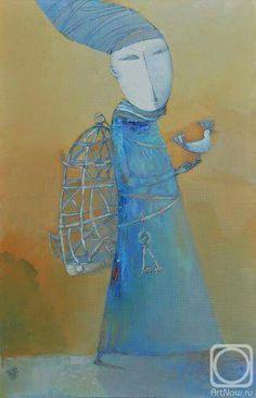 Como pode uma ave, nascida para a alegria Ficar numa gaiola e cantar? -William Blake  ____________arte de Victor Panchenko