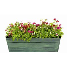 Galvanized Window Box Planter ❤ liked on Polyvore featuring home, outdoors and outdoor decor